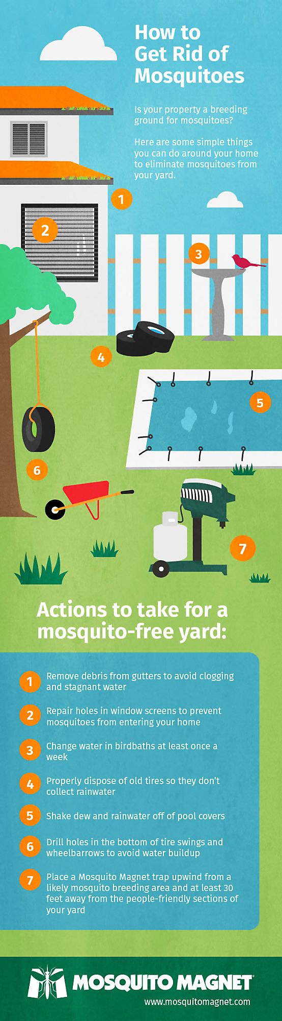 how to get rid of mosquitoes mosquito magnet