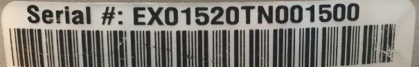 example serial number