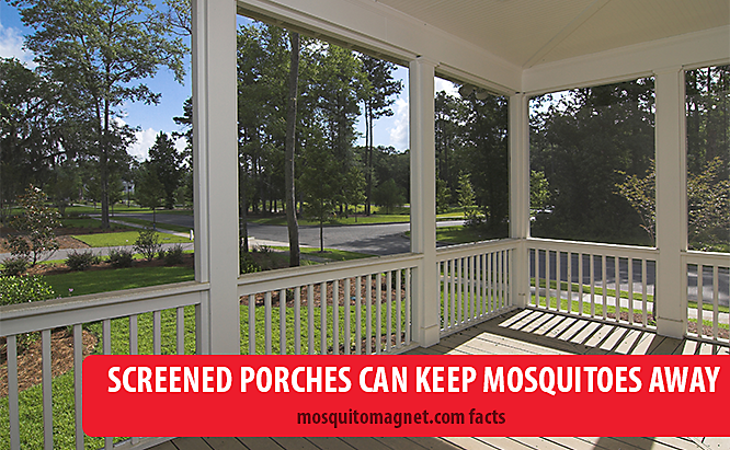 landscaping for mosquitoes screened porches