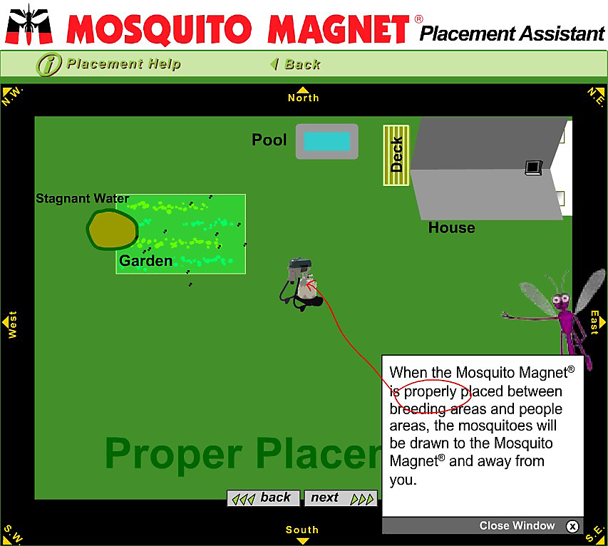 mosquito magnet trap placement