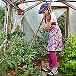 Girl Organic Gardening