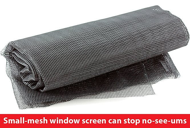 Small Mesh Screens Can Keep No See Ums From Entering Your House